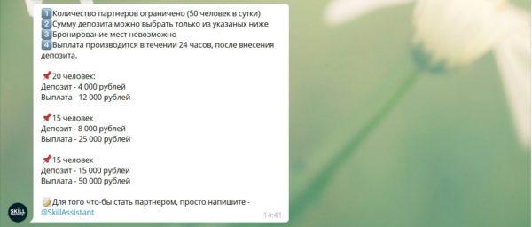 Взнос Скиллфактори
